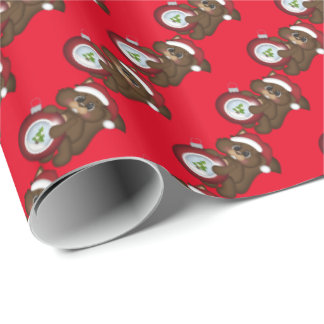Christmas bulb squirrel Holiday wrapping paper