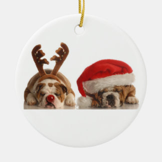 Christmas Bulldog Ornament