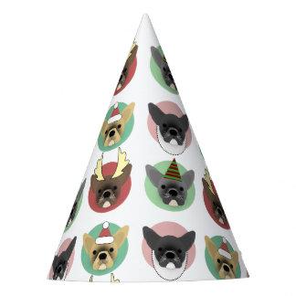 Christmas Bulldog Puppies Party Hat