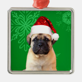 Christmas bullmastiff puppy christmas ornament