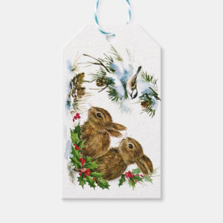 Christmas Bunnies Gift Tags
