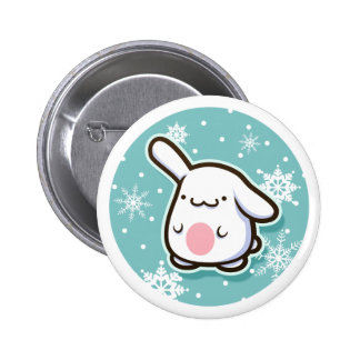 Christmas Bunny Button