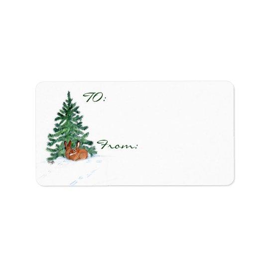 Christmas Bunnys Label