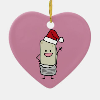Christmas Burrito Waving Hello Santa Hat Holiday Christmas Ornament