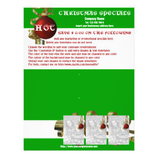 Christmas business promotional marketing leaflets 21.5 cm x 28 cm flyer
