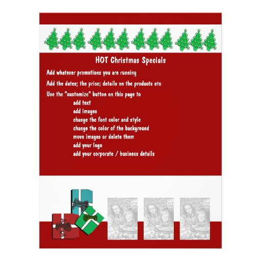 Christmas business promotional marketing leaflets personalized flyer