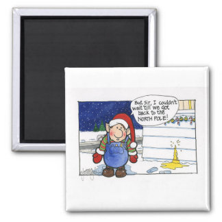 """Christmas """"But Sir"""" Cartoon No. 5 Refrigerator Magnet"""