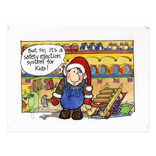 "Christmas ""But Sir"" Cartoon No. 6 Postcards"