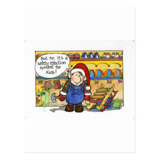 "Christmas ""But Sir"" Cartoon No. 6 Postcard"