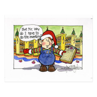 "Christmas ""But Sir"" Cartoon No. 9 Postcard"
