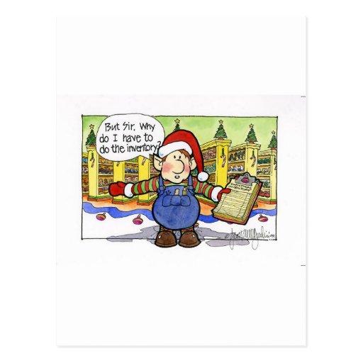 "Christmas ""But Sir"" Cartoon No. 9 Postcard"