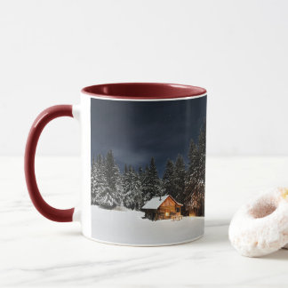 Christmas Cabin in the Mountains Mug