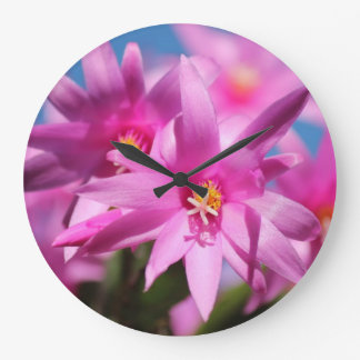Christmas Cactus 1 Wall Clocks & Numeral Options