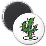 Christmas Cactus 6 Cm Round Magnet