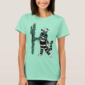 Christmas Cactus Hugs Cute Kitty Cat Lover T-Shirt