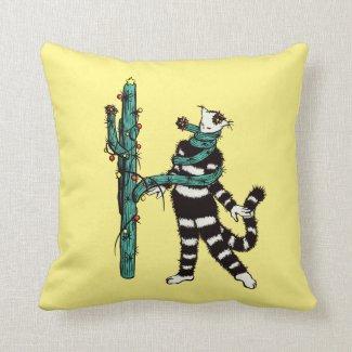 Christmas Cactus Hugs Cute Kitty Cushion