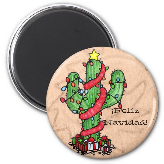 Christmas Cactus Magnet