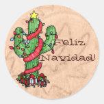 Christmas Cactus Stickers