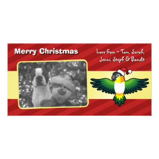 Christmas Caique / Lovebird / Pionus / Parrot Personalized Photo Card