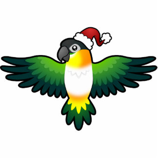 Christmas Caique Lovebird Pionus Parrot Cut Out