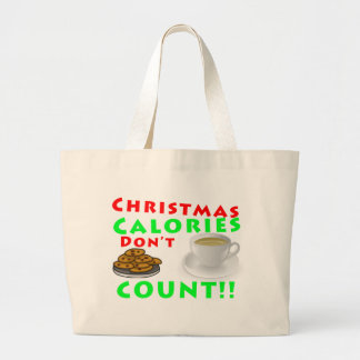 Christmas Calories Don't Count Humor Funny Canvas Bag