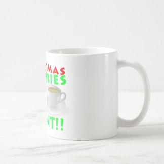 Christmas Calories Don't Count Humor Funny Basic White Mug
