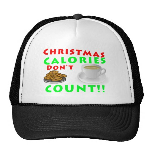 Christmas Calories Don't Count Humor Funny Trucker Hats