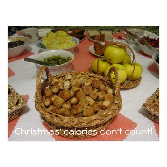 Christmas Calories Don't Count Postcard