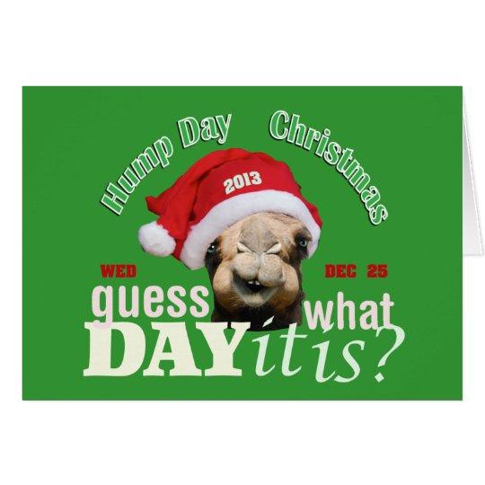Christmas Camel Card