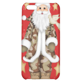 Christmas Cammo Santa Hard Shell 4/4S iphone Case iPhone 5C Covers
