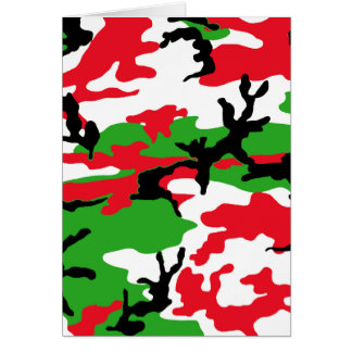 Christmas Camouflage Card