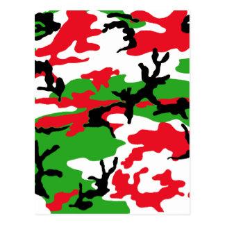 Christmas Camouflage Postcard