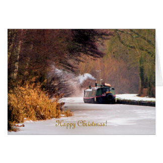 CHRISTMAS CANAL BOATS CARD