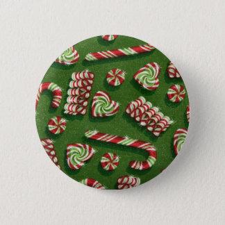 christmas candies 6 cm round badge