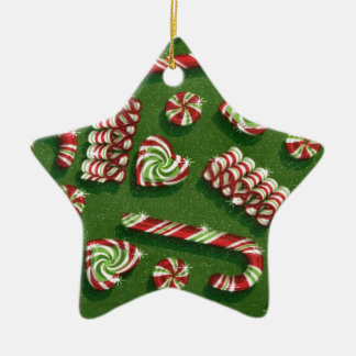 christmas candies ceramic star decoration