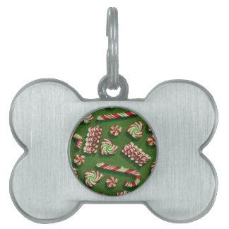 christmas candies pet ID tag