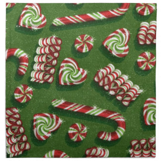 christmas candies printed napkin