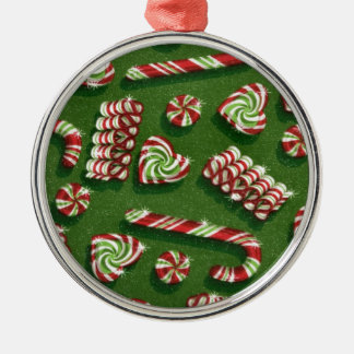 christmas candies Silver-Colored round decoration