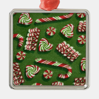 christmas candies Silver-Colored square decoration