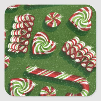 christmas candies square sticker