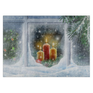 Christmas Candle Chopping Board