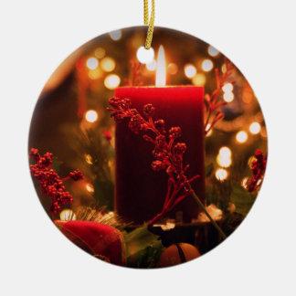 Christmas candle christmas ornament