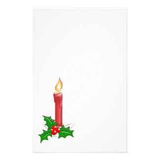 Christmas Candle Customized Stationery