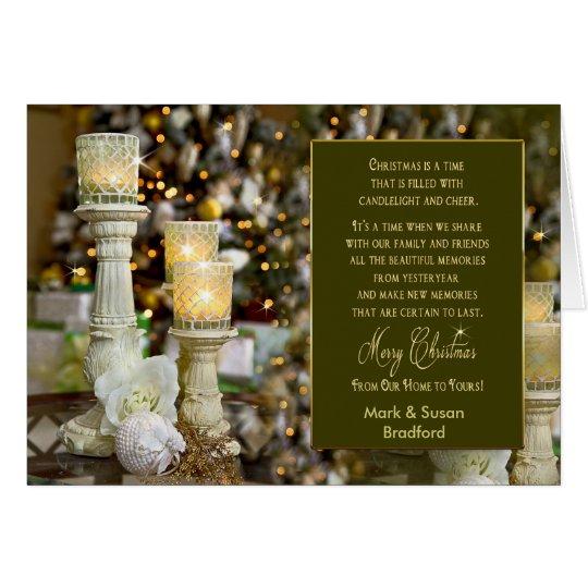 Christmas Candle-Lights - Greeting Card - Name