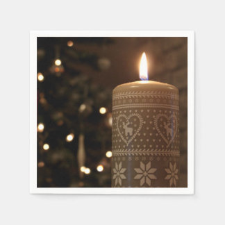 Christmas Candle Napkins Disposable Serviette