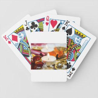 Christmas Candle Poker Deck