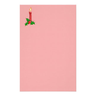 Christmas Candle Personalized Stationery