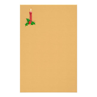 Christmas Candle Stationery Paper