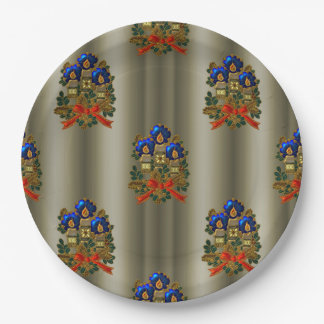 Christmas Candles 9 Inch Paper Plate