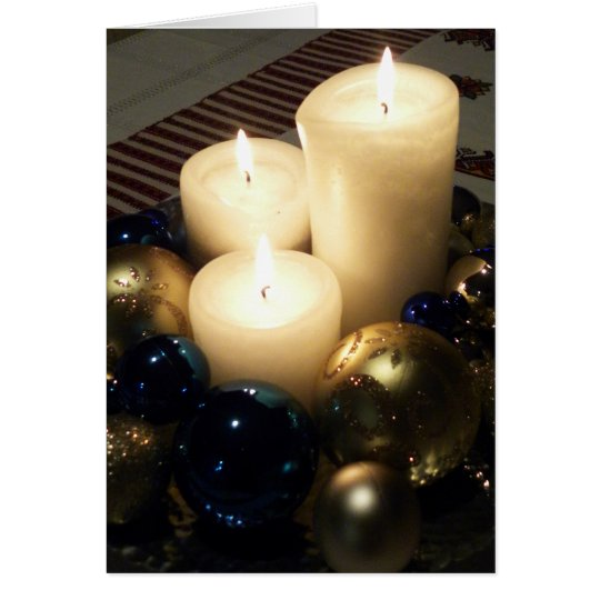 Christmas Candles Card